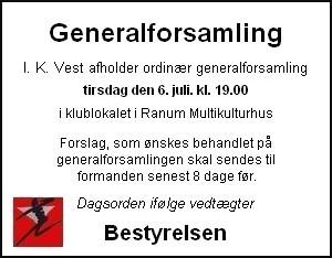 Generalforsamling D. 6 Juli